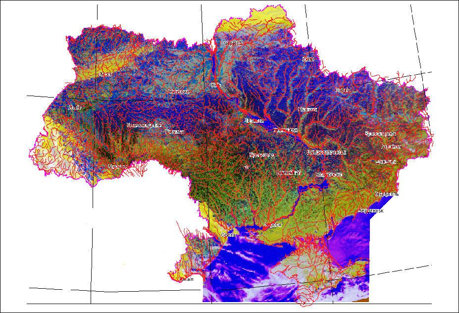 Карта Украины с, Туристические